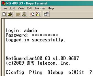 IP Adress using HyperTerminal