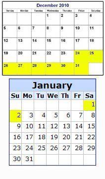 Dps Calendar.Dps 2010 Holiday Hours Update