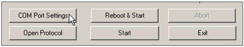 COM port settings button
