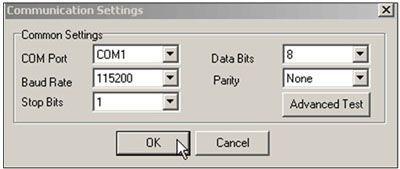 COM port settings