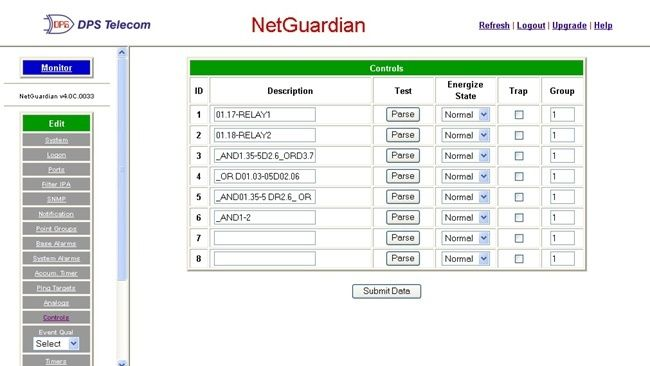 Operate your NetGuardian's controls from anywhere with web access to your NetGuardian.