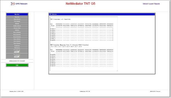 TNT G5 Web Interface