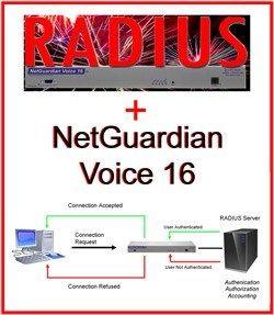 NetGuardian Voice 16 with RADIUS